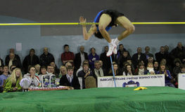 Sayevych Anton on high jump Royalty Free Stock Images