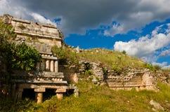Sayil是玛雅人考古学站点,尤加坦,墨西哥 库存照片