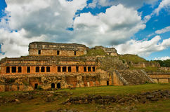Sayil是玛雅人考古学站点,尤加坦,墨西哥 免版税库存照片