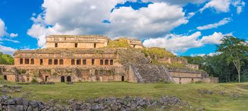 Sayil Maya archaeological site, Yucatan, Mexico. Sayil is a Maya archaeological site, Yucatan, Mexico. Remains of the Palace. UNESCO World Heritage Site Stock Image