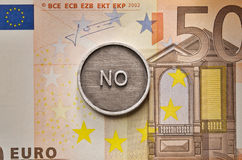 Saying No to European Union Royalty Free Stock Photo