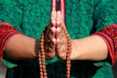 Saying the prayer Royalty Free Stock Photos