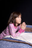 Saying prayers. Royalty Free Stock Image