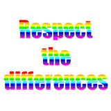 Saying respect the differences. Vector Royalty Free Stock Photos