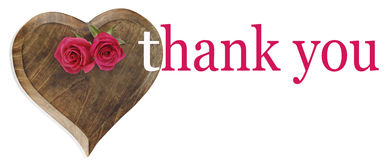 Saying Thank you with Roses Royalty Free Stock Photography