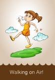 Saying walking on air Stock Image