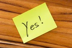 Saying yes Royalty Free Stock Image