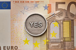 Saying Yes to European Union Royalty Free Stock Images