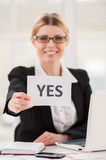 Saying yes to you. Royalty Free Stock Images