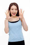 Saying young asian woman Stock Images