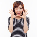 Saying young asian woman Stock Image