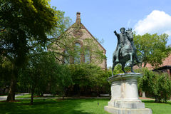 Sayles Hall and Gordian III Statue, Brown University Stock Images