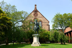 Sayles Hall i Gordyjska III statua, Brown University Obraz Stock