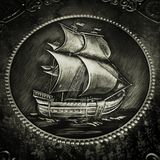 Sayling ship embossing Royalty Free Stock Photos