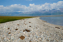 Sayram Lake Stock Image