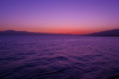 Sayram Lake morning light. China Sayram Lake scenery.tranquility Royalty Free Stock Image