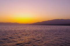 Sayram Lake morning light Royalty Free Stock Images
