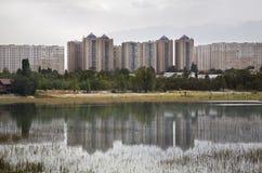 Sayran lake in Almaty. Kazakhstan Stock Photo