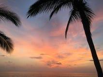 Sayulita захода солнца Стоковое фото RF