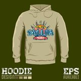 Sayulita Mexico Hoodie print design template Stock Photo
