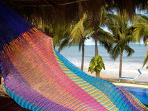 Sayulita Mexico oceanfront hammock with pool Royalty Free Stock Images