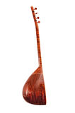 Saz baglama Turkish Music Instrument Isolated on a White Background Royalty Free Stock Photography