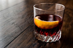 Sazerac Cocktail with lemon peel. Beverage Concept Royalty Free Stock Image