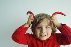 Sazona al diablo con pimienta Foto de archivo libre de regalías