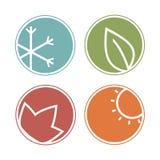 Sazona iconos stock de ilustración