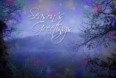 Sazona la tarjeta de felicitaciones Foto de archivo libre de regalías