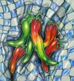 Sazone la ilustración de la comida campestre con pimienta Fotografía de archivo libre de regalías