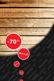 Sazone la reducción, nueva venta grande, días de compras Foto de archivo