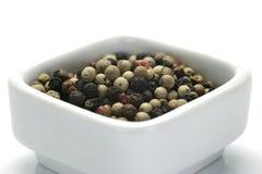 Sazone los granos con pimienta Imagen de archivo libre de regalías