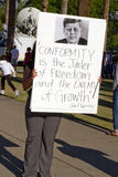 sb 1070 för protest för arizona invandringlag Royaltyfri Bild