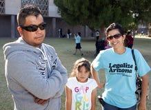 sb 1070 för protest för arizona invandringlag royaltyfri fotografi
