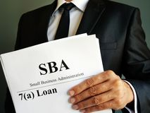 Free SBA 7a Loan Small Business Administration Agreement Royalty Free Stock Photography - 159748387