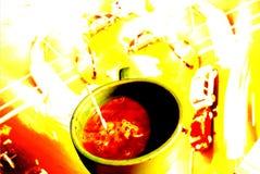 Sbalzo della caffeina Fotografie Stock Libere da Diritti