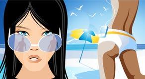 Sbalzo di estate illustrazione di stock