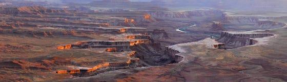 Sbarchi del canyon di panorama Immagini Stock Libere da Diritti