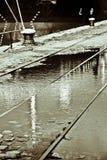 Sbarco, acqua & aria Fotografia Stock