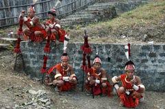 Sbarco & la gente dell'Nagaland-India. Immagine Stock