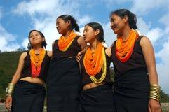 Sbarco & la gente dell'Nagaland-India. Fotografie Stock Libere da Diritti