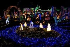 Sbarco di Natale degli indicatori luminosi Immagine Stock