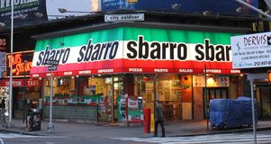 Sbarro, Манхаттан, NYC Стоковые Фото