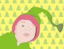 Sbattere le palpebre bambino nel cappello Fotografia Stock