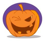 Sbattere le palpebre del carattere della zucca di Halloween Fotografie Stock