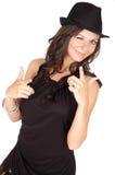 Sbattere le palpebre donna Fotografie Stock Libere da Diritti