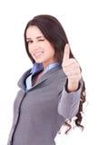 Sbattere le palpebre la donna di affari Immagini Stock Libere da Diritti