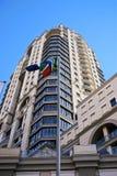 Sbattimento della bandierina sudafricana Immagine Stock Libera da Diritti