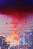 Sbavature e gocciolamenti di colore Fotografia Stock